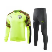 19-20 Manchester City Fluorescent Green Training Suit