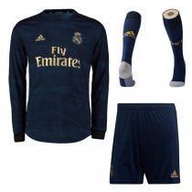 19-20 Real Madrid Away Long Sleeve Soccer Jersey Full Kit