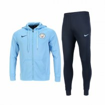1819 Manchester City SKY Blue Zip Hoodie Kit