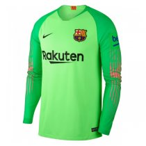 1819 Barcelona Away Long Sleeve Goalkeeper Jersey Green