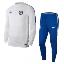 2019 Chelsea Dri-FIT Squad Training Suit White