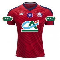 1819 French Cup Lille OSC Home Full Patch Soccer Jersey Shirt