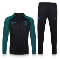 1617 Barcelona Tracksuit Black Sleeve Green