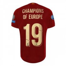 19-20 Liverpool UCL CL 2019 Winner Home Shirt Gold
