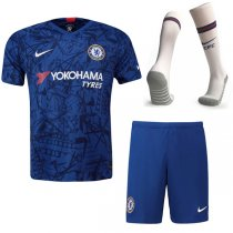 19-20 Chelsea Home Soccer Jersey Men Full Kit(Shirt+Short+Socks)