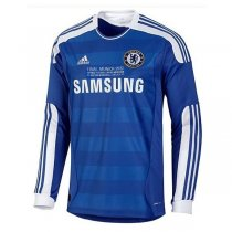 2011-12 Chelsea Home LS UCL Final with CL Detail Retro Jersey Shirt