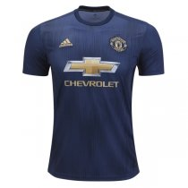 1819 Manchester United Third Away Blue Soccer Jersey
