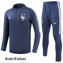 Kids 2018 Two Star France Navy Tracksuit