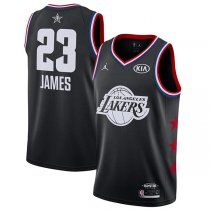 2019 All star Jordan Los Angeles Lakers #23 LeBron James Jersey Black
