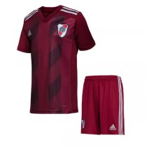 19-20 River Plate Alternative Red Soccer Jersey Kids Kit