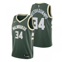 Milwaukee Bucks Giannis Antetokounmpo #34 Green Statement Swingman Jersey