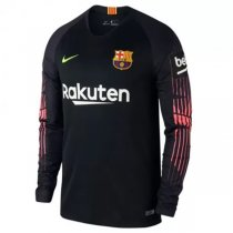 1819 Barcelona Long Sleeve Home Goalkeeper Jersey Black