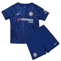 19-20 Chelsea Home Soccer Jersey Kids Kit