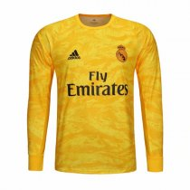 19-20 Real Madrid Home Goalkeeper Long Sleeve Yellow Soccer Jersey