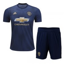 1819 Manchester United Third Away Soccer Jersey Kit(Shirt+Short)