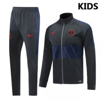 19-20 PSG Black&Navy High Neck Jacket Kids Kit