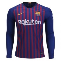 1819 Barcelona Home Long Sleeve Soccer Jersey Shirt