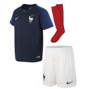 2018 France Home Jersey Kid Full Kit Two Star