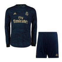19-20 Real Madrid Away Long Sleeve Soccer Jersey Kit(Shirt+Short)