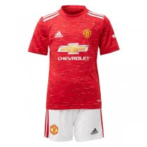 20-21 Manchester United Home Jersey Kids Kit