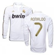 2011-2012 Real Madrid Home Long Sleeve Ronaldo #7 Jersey
