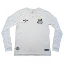 19-20 Santos FC Home White Long Sleeve Soccer Jersey Shirt