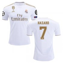 19-20 Real Madrid Home Champion League Patch Jersey Print HAZARD #7