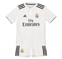 2018-2019 Real Madrid Home Kids Jersey Kit