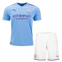 19-20 Manchester City Home Jersey Men Kit(Shirt+Short)