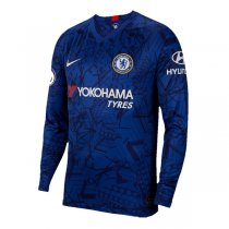19-20 Chelsea Home Long Sleeve Soccer Jersey Shirt