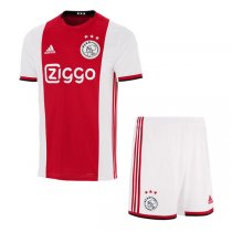 19-20 Ajax Home Soccer Jersey Men Kit (Shirt+Short)