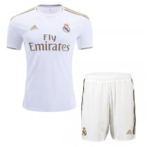 19-20 Real Madrid Home Soccer Jersey Men Kit(Shirt+Short)