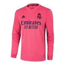 20-21 Real Madrid Away Pink Long Sleeve Soccer Jersey