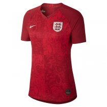 2019 England Away Red Women Soccer Jersey Shirt