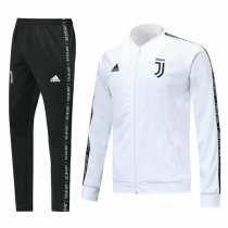 19-20 Juventus White V-Neck Jacket Kit