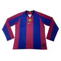 2019 Barcelona El Clasico Home Long Sleeve Jersey Shirt