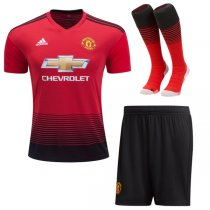 1819 Manchester United Home Soccer Jersey Full Kit(Shirt+Short+Sock)