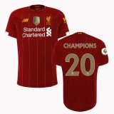 19-20 Liverpool Home EPL Jersey Print Champion 20 Full Patch Shirt