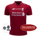 1819 Liverpool Home UCL Final Version Full Patch Match Detail Jersey Shirt