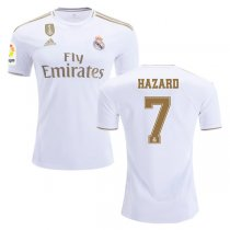19-20 Real Madrid Home La liga&CWC Patch Jersey Print HAZARD #7