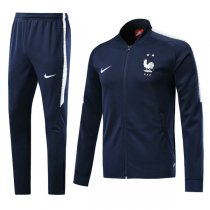 2018 France Navy Blue Training Jacket Kit (Two Star)