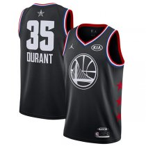 2019 All star Jordan Golden State Warrior #35 DURANT Jersey Black