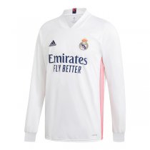 20-21 Real Madrid Home Long Sleeve Soccer Jersey