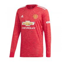 20-21 Manchester United Home Long Sleeve Soccer Jersey