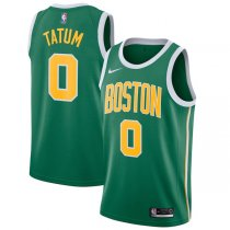 2018-2019 Boston Celtics Jayson Tatum Green NBA Swingman Earned Edition Jersey