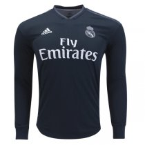 Real Madrid 2018-19 Long Sleeve Away Soccer Jersey