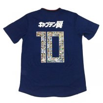 2018 Japan Home Jersey With Captain Tsubasa #10 Flock(Player version)