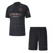 20-21 Manchester City Away Soccer Jersey Kids Kit