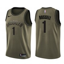 Brooklyn Nets D'Angelo Russell Green Salute To Service NBA Swingman Jersey