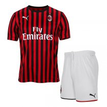 19-20 AC Milan Home Soccer Jersey Men Kit(Shirt+Short)